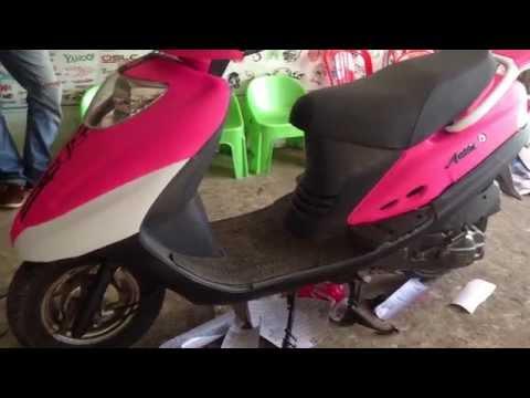 SYM Attila 125 - Attila SYM 125 Install Pink Color