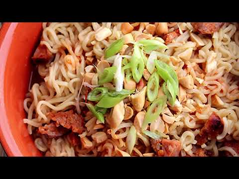 Spicy Asian Sausage Ramen Noodles