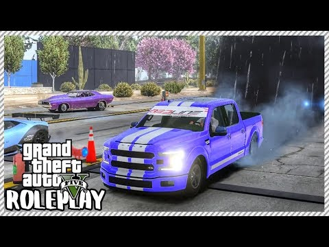 GTA 5 ROLEPLAY - Shelby Drag Truck Racing in Thunderstorm   Ep. 397 Civ