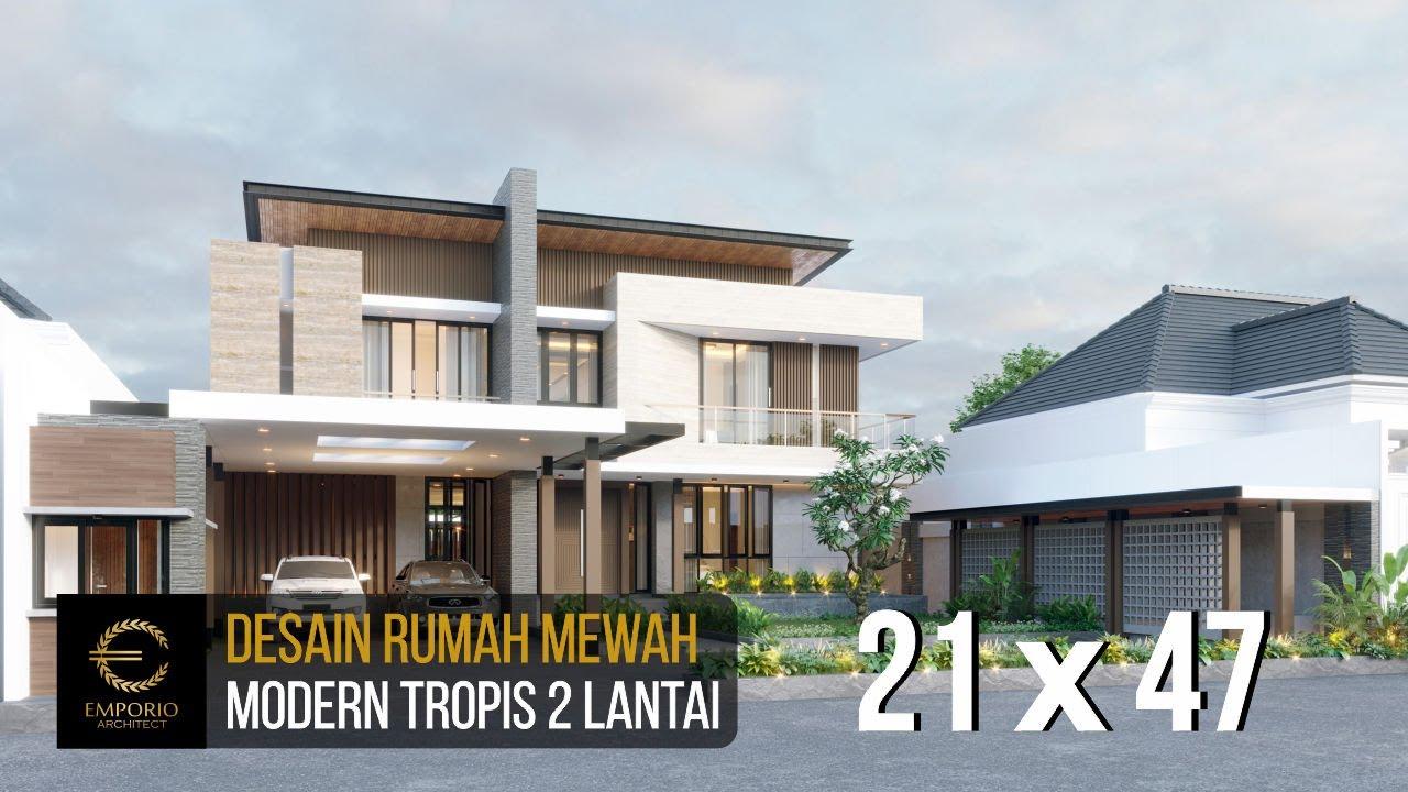 Video 3D Desain Rumah Modern 2 Lantai Bapak Usman di Tangerang, Banten
