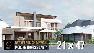 Video Desain Rumah Modern 2 Lantai Bapak Usman di  Tangerang, Banten