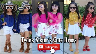 Cute Twin Sisters Dressing Style Ideas | Twins Sisters Dress Ideas | Stylish & Trendy Dresses