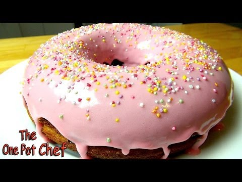 Giant Donut Cake | One Pot Chef