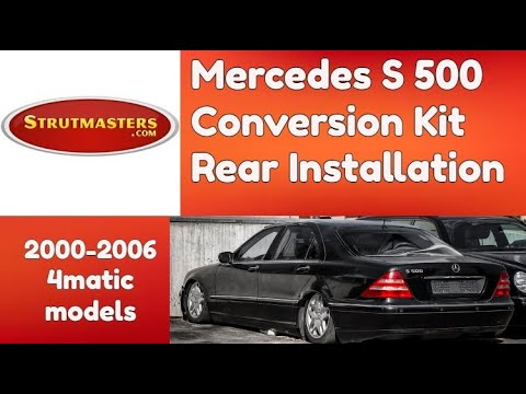 2003-2006 Mercedes S 500 4MATIC with an Air Suspension Kit by Strutmasters (Rear Install)