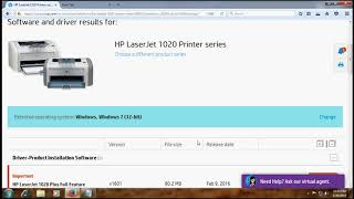 hp laserjet 1020 driver for windows 10