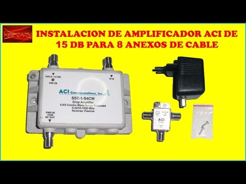 INSTALACION DE AMPLIFICADOR DE SEÑAL ACI PARA 8 ANEXOS DE CABLE CURSO DE TELEVISION POR CABLE