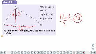 Eğitim Vadisi 9.Sınıf Matematik 31.Föy Üçgenin Alanı Konu Anlatım Videoları