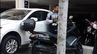 21mar2019  driver of white mazda 3 #SLB303Z lost control of the vehicle & took out motorbikes