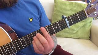 The Hollies-The Air That I Breathe-Acoustic Guitar Lesson.
