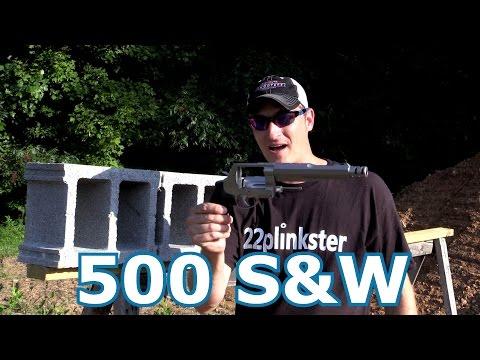 500 Smith and Wesson vs Concrete Blocks