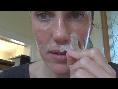 Cosmetology facial dilated pores