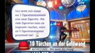 9live - Jürgen Milski bei einer Quizfrage