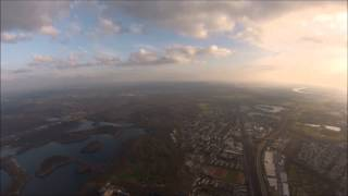 FPV-Bixler trying to catch the clouds, 1000 meters altitute