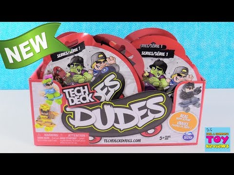 Tech Deck Dudes Series 1 Skateboard Toy Review Opening | PSToyReviews