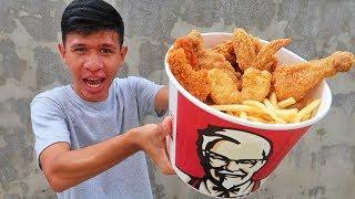 อดข้าว24ชั่วโมงกินไก่KFCถังใหญ่1ถัง!!