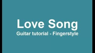 LOVE SONG guitar tutorial