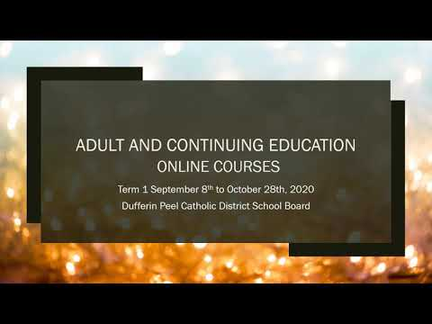 Online Course Offerings for DPCDSB Adult Education Term 1 ...
