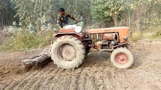 Antique T-25 Tractor Performance With Cultivator