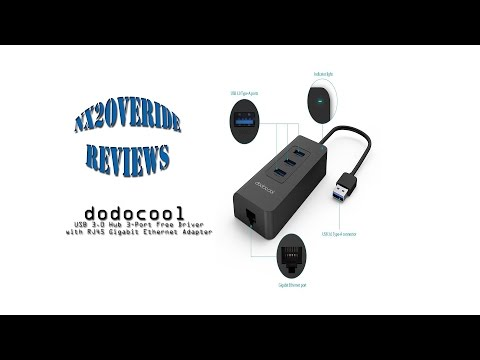 dodocool 3-Port USB 3.0 Hub with RJ45 Gigabit Ethernet Adapter Review