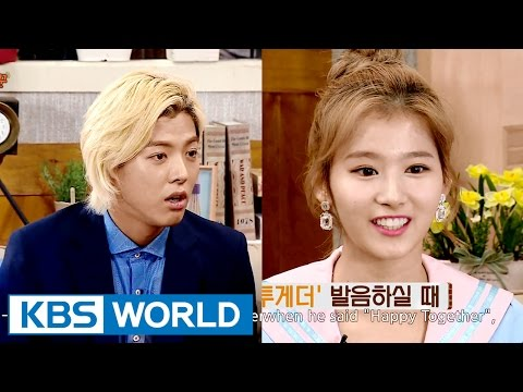 """Sana, """"Kangnam's Happy Together accent is a Korean accent"""" [Happy Together/2016.07.21]"""