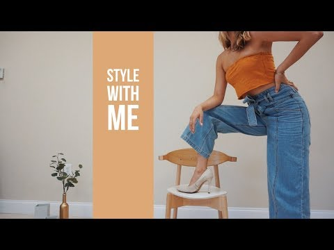 How to Style Tie Waist Jeans | 6 Looks for Statement Wide Leg Jeans