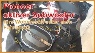 Pioneer TS-WX 130EA Subwoofer fürs Wohnmobil Hymer B unter dem Fahrersitz,  Sound verbessern