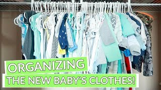 ORGANIZING BABY CLOTHES!