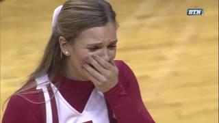 Indiana Hoosiers' Collin Hartman Proposes to Girlfriend on Senior Day | Big Ten Men's Basketball