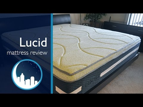 Lucid Mattress Review (16″ memory foam + latex)