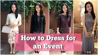 How To Dress For An Event