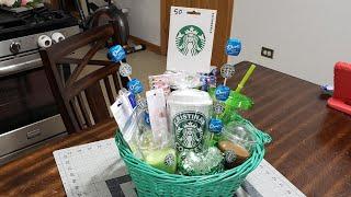 #diystarbucksgiftbasket #giftideas Diy Starbucks Gift Basket