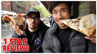 Eating At The Worst Reviewed Pizza Restaurant In New York City (1 STAR)