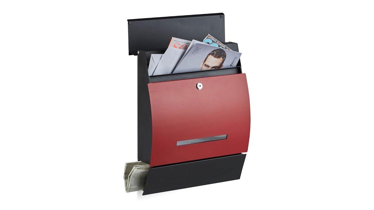 Video von: Design Briefkasten mit Zeitungsfach