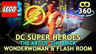 Lego DC Super Heros 360º 4K Virtual Reality - Wonder Woman & Flash - #VR #360Video