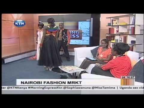 Nairobi Fashion Market with the designers on Morning Express