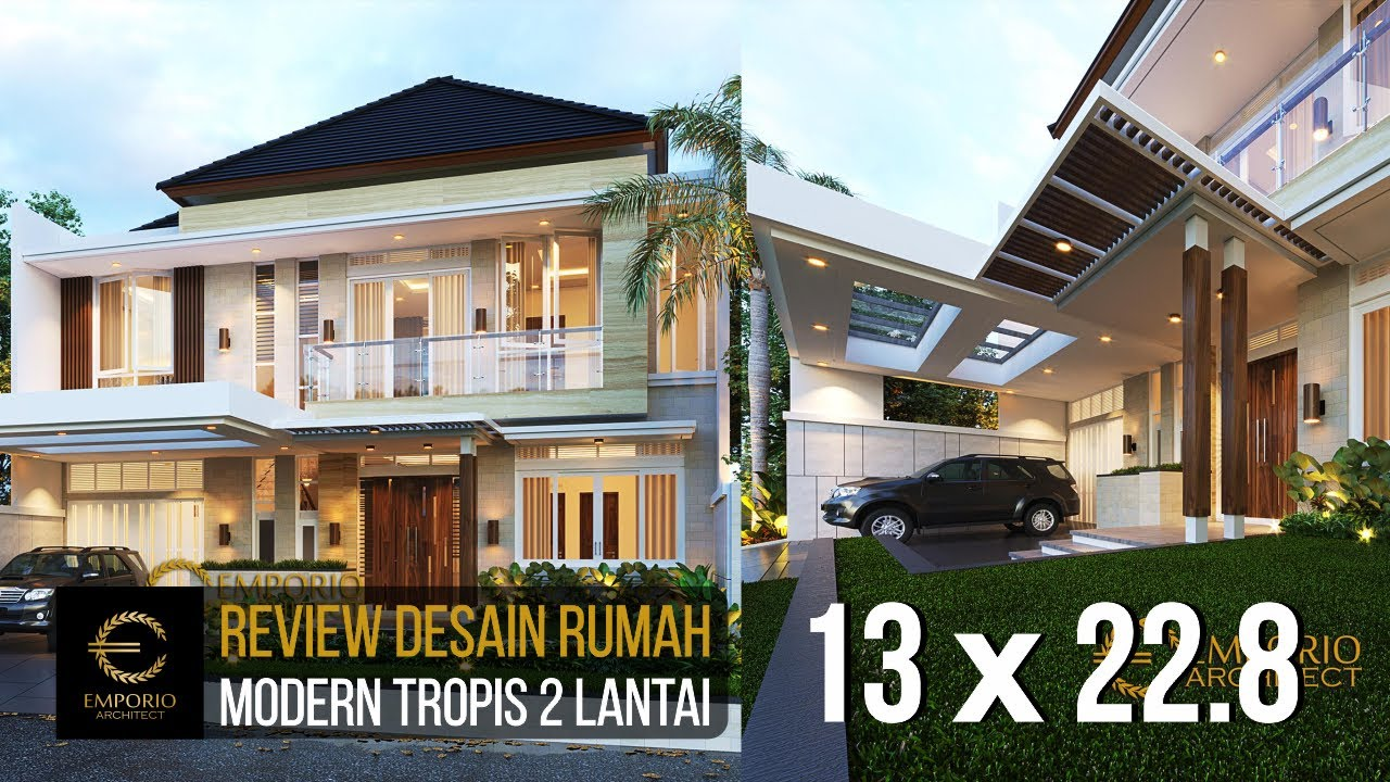 Video 3D Mrs. Hani Modern House 2 Floors Design - Bogor, Jawa Barat