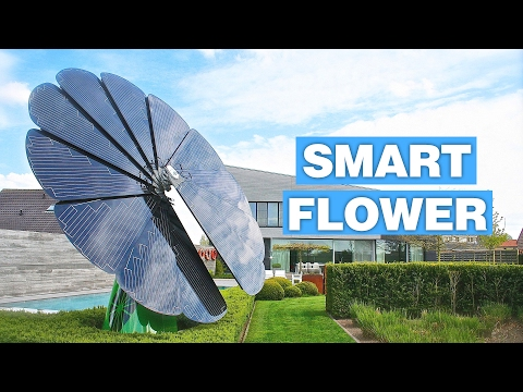 SmartFlower: An Intelligent Solar Panel System Tracks Sun Throughout