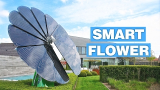 Flower Shaped Solar Panel Follows The Sun