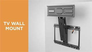 How to install Spring Assisted Fireplace Mantel TV Mount-LPA53N-461
