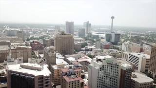 Downtown San Antonio, Texas with a Drone