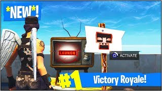 "*NEW* SECRET ""LAUNCH"" TV MESSAGE in Fortnite Battle Royale! (Rocket Set To Hit ""MOISTY MIRE"")"