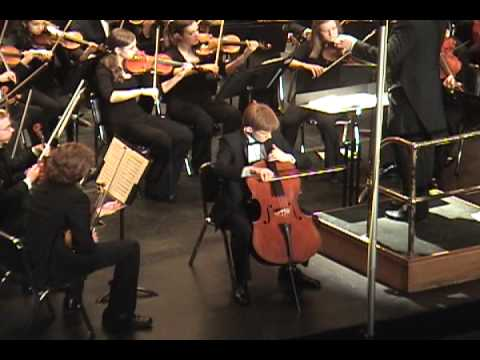 Alexander performs the Cello Concerto in A minor by Camille Saint-Saens under the baton of Christopher Hisey