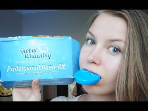 Отбелить зубы ДОМА за 30 минут: Легко!  Global Whitening