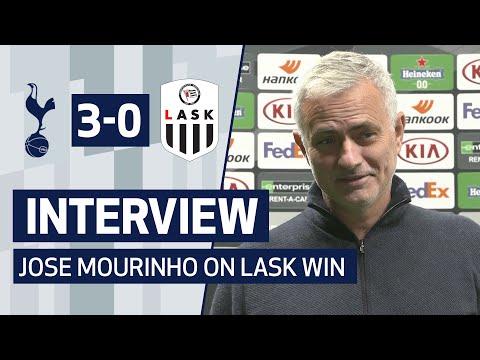 INTERVIEW | JOSE MOURINHO ON LASK VICTORY | Spurs 3-0 LASK