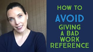 How to avoid giving a bad work reference