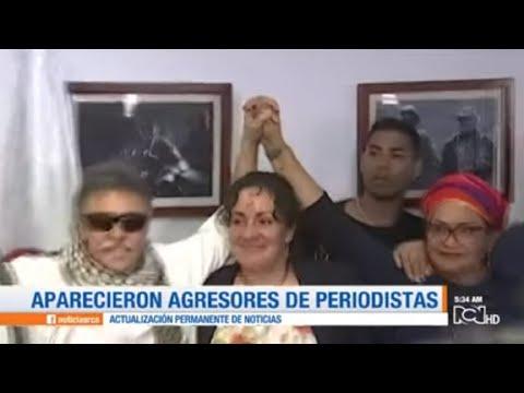 Aparecieron agresores de periodistas junto a Santrich en sede del partido Farc