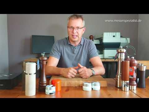 Pfeffermühlen, Gewürzmühlen und Salzmühlen kurz erklärt