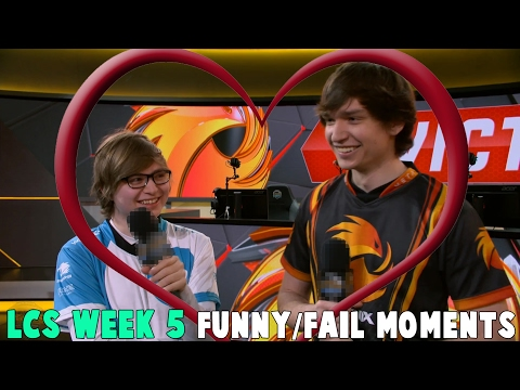 LCS WEEK 5 FUNNY/FAIL MOMENTS - 2017 Spring Split