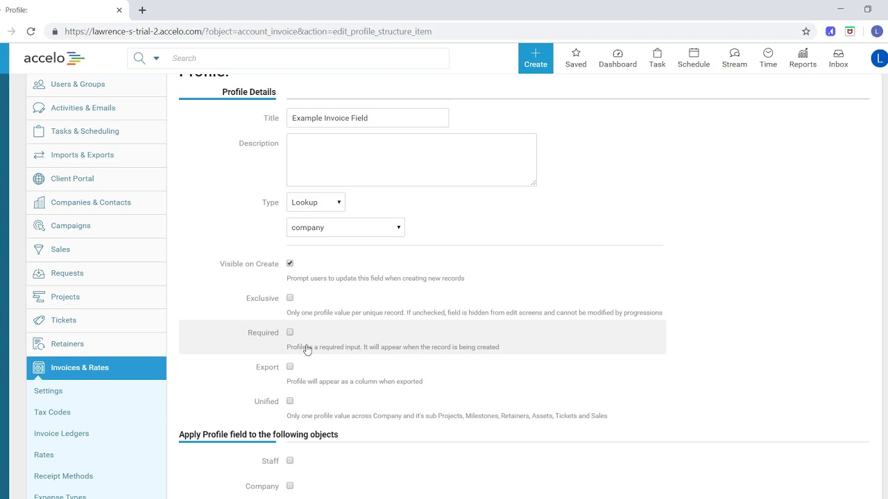 Configuring Custom Invoice Fields