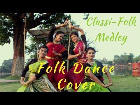 CLASSI FOLK MEDLEY CHOREOGRAPHY   Durga Sohay I Bengali Folk   Ft. Simantini Ghosh N Shivangi Sarkar
